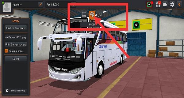cara pasang livery bussid