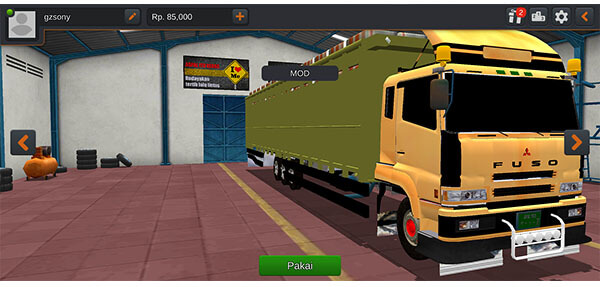 Mod Bussid Truck Fuso Tribal Angkut Beras