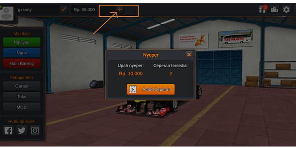 cara mendapatkan uang di game mod bussid terbaru