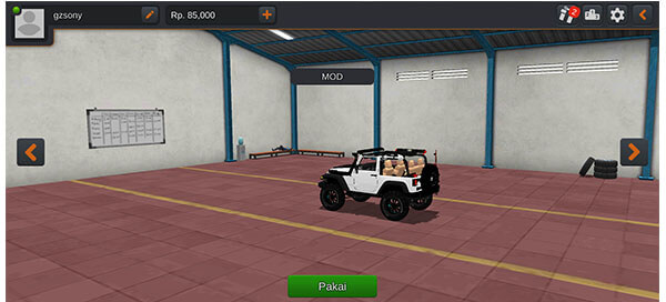 mod bussid mobil jeep rubicon