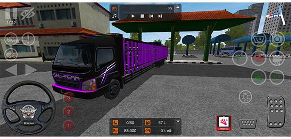mod bussid truck canter bak tribal