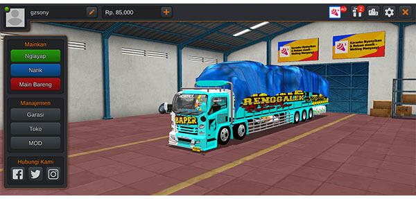 mod bussid truck tronton isuzu + livery
