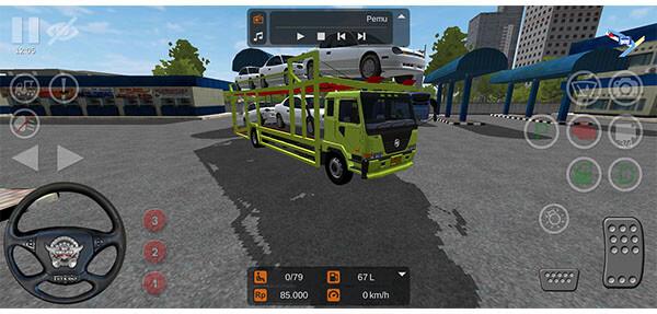 mod bussid truck nissan muat mobil