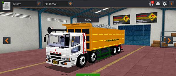 mod truck dump fusso bussid