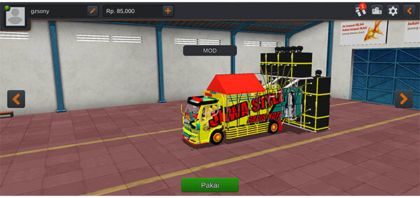 mod bussid truck angkut sound system