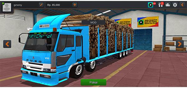 mod bussid truck fuso