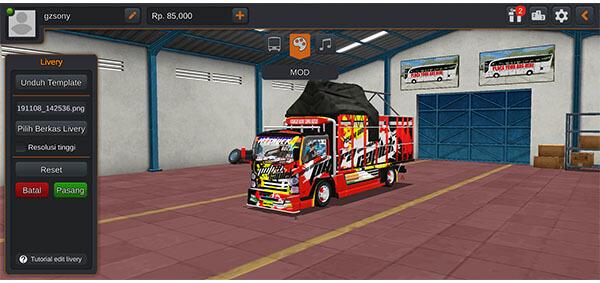 mod bussid truck