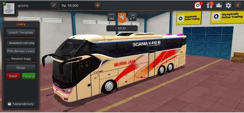 Bus SR2 XHD Scania Tronton Murni Jaya