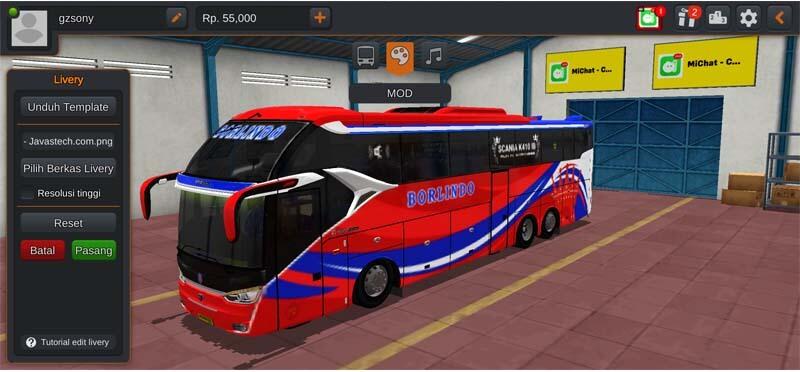 Bus SR2 XHD Tronton Borlindo