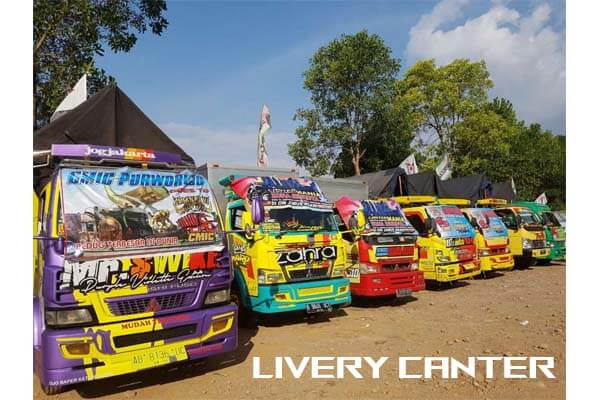 download livery canter bussid
