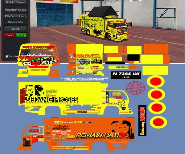 livery canter bussid anti gosip