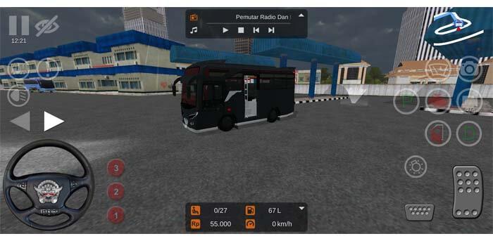 micro bus pintu tengah