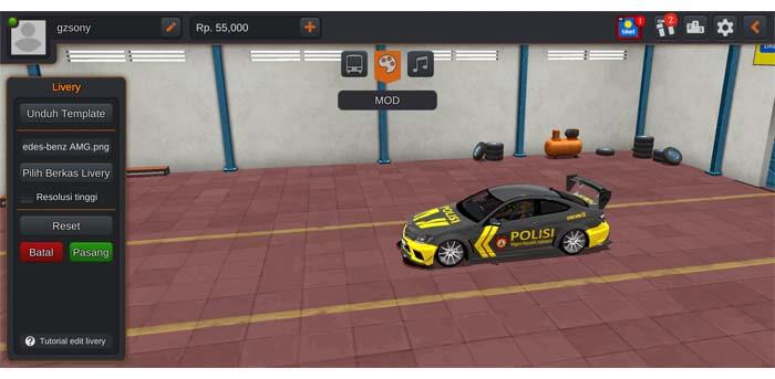 mobil polisi racing