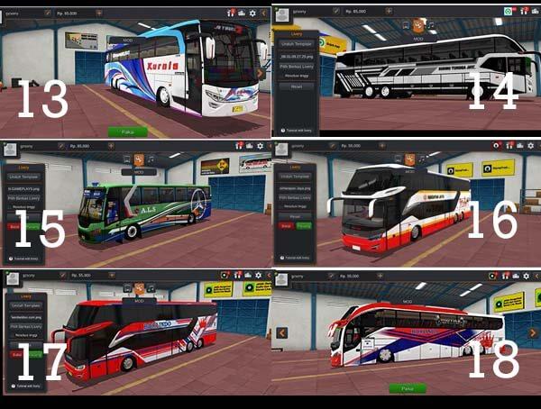 download kumpulan mod bussid bus