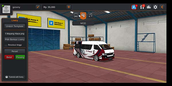 download mod bussid mobil travel hiace.