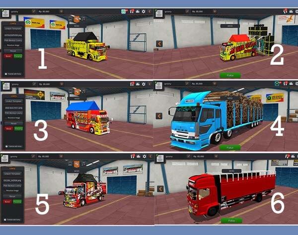 download mod bussid truck lainnya