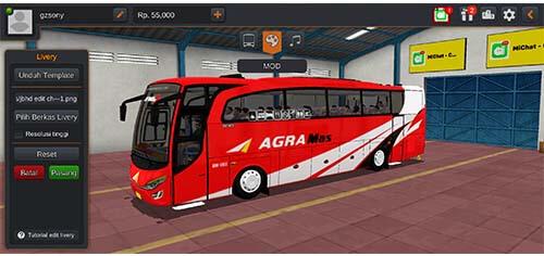livery bus agra mas