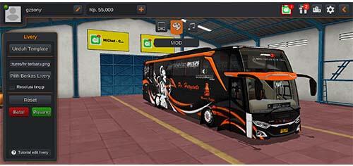 livery bus haryanto JB3 SHD