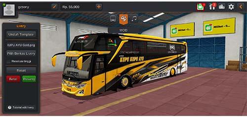livery bus kupu kupu ayu