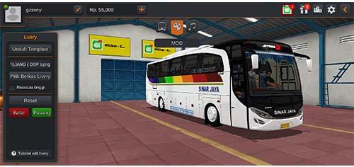 livery bus sinar jaya