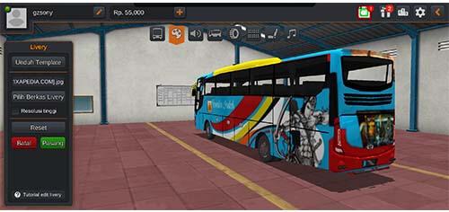 livery bussid xhd arjuna bus rosalia indah