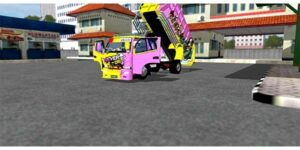 download mod bussid truck canter dump