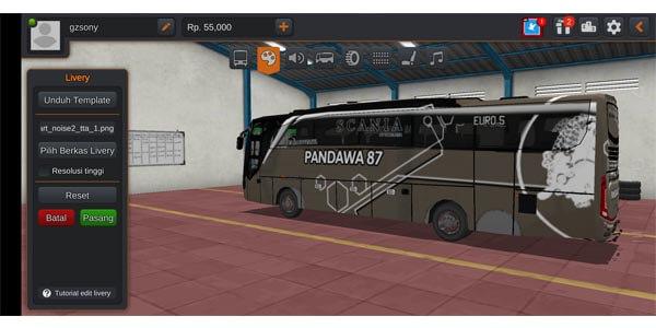 livery bussid shd pandawa
