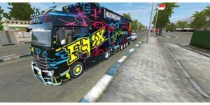 mod bussid truck actros racing