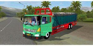 Mod Bussid truck hino muatan berat full terpal
