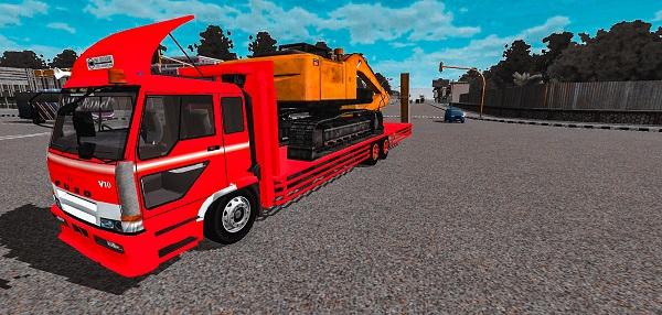 Truck Fuso Muatan Excavator