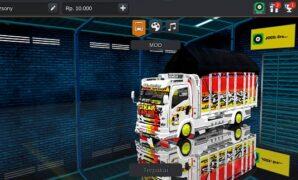 Download mod bussid truck sekar taro putih