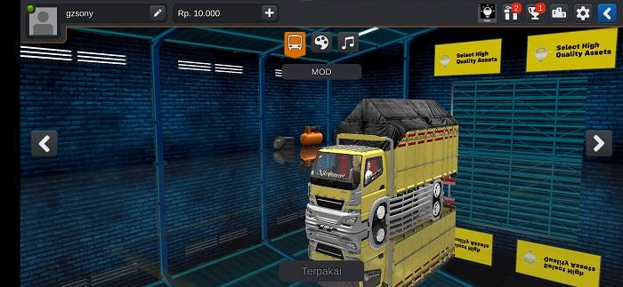 Mod Truck Canter Minimalis Bemper Avante Bussid terbaru
