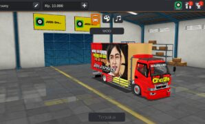 download mod truck box canter bussid