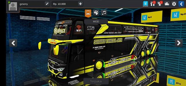 Download Mod Bus STJ UHD Full Anim Terbaru Bussid