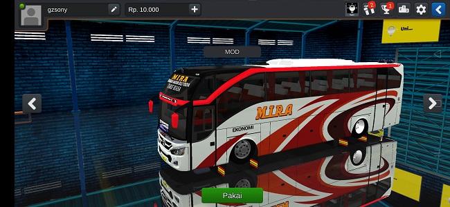 Mod Bus SHD Livery Mira Full Anim Super Jernih Bussid
