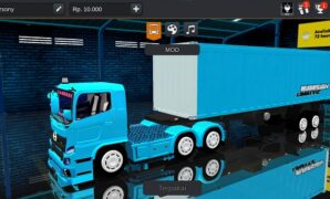 Mod Truck Hino 500 Container Panjang Bussid