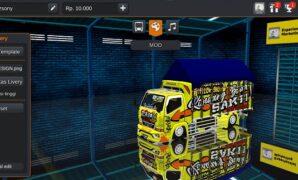 Download Mod Truck Souleh Art Terpal Segitiga Bussid