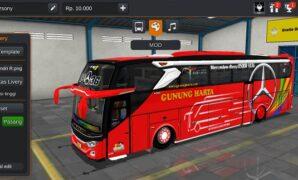 Bus JB3+ Mercy O500R Gunung Harta Full Anim