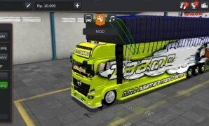 Truck Hino 500 Panjang Full Muatan Full Anim