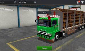 Truck Fuso Muatan Kayu Full Anim Terbaru