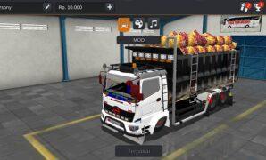 Truck Hino Dump Kalimantan Full Muatan Full Anim