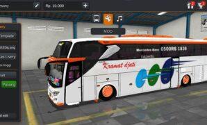Bus Kramat Jati JB3+ Mercy O500R Full Anim