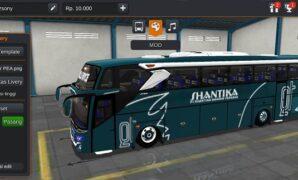 Bus Shantika JB3+ SHD Hino Full Anim