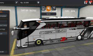 Bus Sudiro Tungga Jaya Full Aksesoris Full Anim
