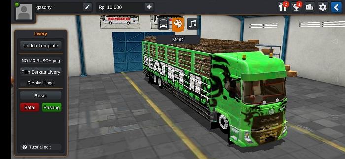Mod truck hino full muatan full anim