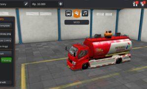 Truck Hino Dutro Tangki Pertamina Full Anim