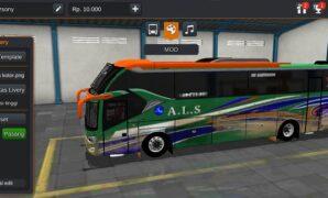 Bus ALS Air Suspension Full Anim + Bagasi Full