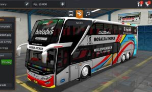 Bus Rosalia Indah Double Decker Full Anim