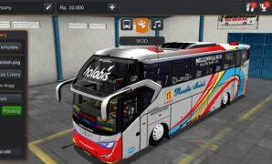Bus Rosalia Indah Full Aksesoris + Animasi