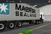 download mod bussid truck hino 700 trailer logistic